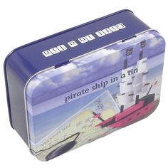 Gift In A Tin - Pirate Ship. A great present idea for kids Age 11 who love pirates !