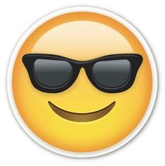 Smiling Face with Sunglasses | EmojiStickers.com                                                                                                                                                                                 Mehr