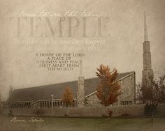 Boise Idaho LDS Temple Print 16x20 by BrighterSideArt on Etsy