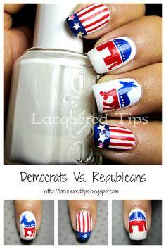 LACQUERED TIPS: Democrats Vs. Republicans