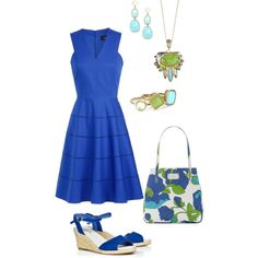 """""""blue, aqua, & green"""" by kswirsding on Polyvore"""