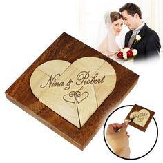 Dieses Legespiel gebrochenes Herz sieht nicht nur schick aus, sondern fördert auch die geistige und kreative Fitness des Brautpaars! via: www.monsterzeug.de