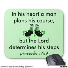 proverbs 16:9 mousepad