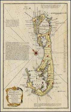 Bermuda by Emanuel Bowen 1754 Barry Lawrence Ruderman Antique Maps Inc.