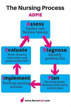 The Nursing Process - ADPIE - NurseFuel #nursing #school