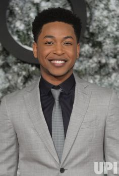 American actor Jacob Latimore attends the premiere of Collateral Beauty at Vue, Leicester Square in London on December 15, 2016. Photo by…