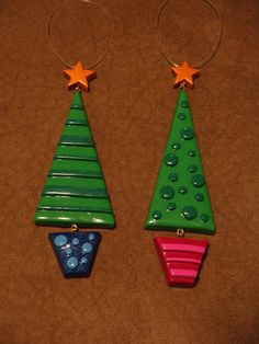 Polymer Clay Ornaments ∙ Creation by Candice C. on Cut Out + Keep #christmas