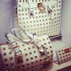Micheal Kors 2013 // uggggggggggh I love studs.  I swear like big like little.  Cause she just pinned this and I'm obsessed with these