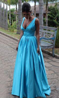 New V-neck Sleeveless Blue Satin Vestidos Prom Evening #prom #promdress #dress #eveningdress #evening #fashion #love #shopping #art #dress #women #mermaid #SEXY #SexyGirl #PromDresses