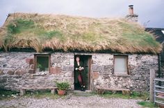 emily-buchanan:Crofting cottage, the Isle of Lismore, Scotland (+ suitably tartan trousers).