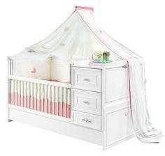 Patut transformabil din pal, pentru bebe Romantic Baby White, 160 x 75 cm Kid Beds, Toddler Bed, Romantic, Interior Design, Bedroom, Baby, Inspiration, Furniture, Home Decor