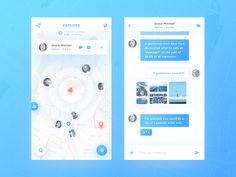 Map Chat App on Behance