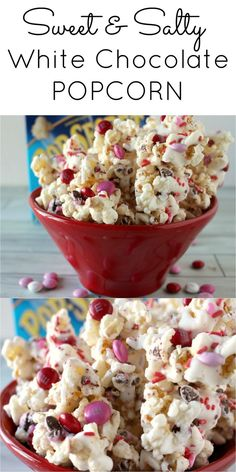 Use Lisa's Passion for Popcorn's white chocolate popcorn to make this fun Easter treat! Sweet and Salty White Chocolate Popcorn Valentine Desserts, Valentine Chocolate, Valentines Day Treats, Köstliche Desserts, Delicious Desserts, Holiday Treats, Valentine Food Ideas, Valentine Cupcakes, Heart Cupcakes