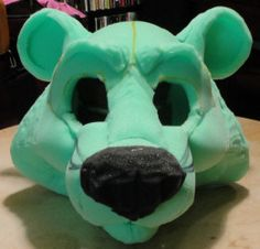 how to make foam mascot heads