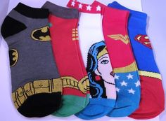 DC Comics Set of Five 5 Pairs Super Hero Peds Ankle Socks | eBay