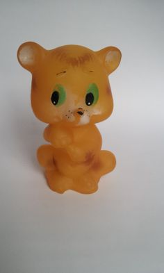Vintage Ruber Toy Bear made in USSR in 1980's by TinutesCreations, $10.00