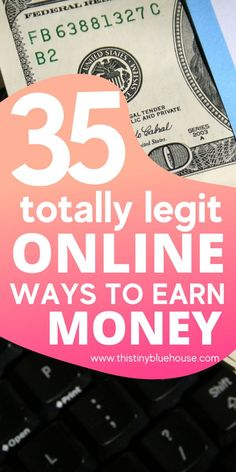 Start earning money from the comfort of your home with these legitimate ways to earn money online. With 35 different options to pick from there is a legit online opportunity to make money for everyone. Earning Money, Ways To Earn Money, Earn Money Online, Way To Make Money, Money Saving Tips, How To Make, Work From Home Opportunities, Work From Home Jobs, Make Money From Home