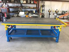 This is my completed welding table! The 4' side slides out 7' and the 8' side slides out 3'!!!