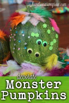 Halloween Pumpkins: Monster Style