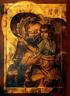 Milk Giver Icon the Eastern Orthodox Church Madonna, Archangels, Orthodox Icons, Hagiography, Byzantine Art, Lovers Art, Vintage Icons, Dance Art, Book Icons