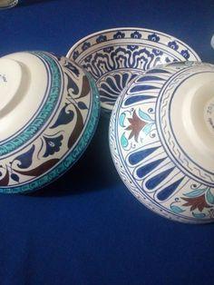 Panda Bowl, Concrete Crafts, Tile Design, Ceramic Pottery, Bowls, Tiles, Decorative Plates, Candle, Antiques
