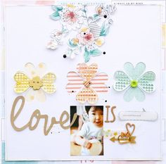Love is ... #layout by Patricia Roebuck from #SCTMagazine #scrapbook