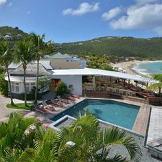 """St. Barth's - """"St. Barth's is the perfect getaway to escape the cold. Stay at Hotel Taiwana or Isle De France, or rent a villa from Wimco.""""—Rachel Zoe"""