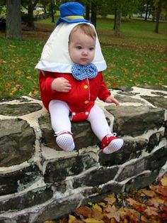 Humpty Dumpty!  I need to buy this costume for my little loves that visit!
