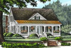 Plan 32597WP: Front and Rear Porches
