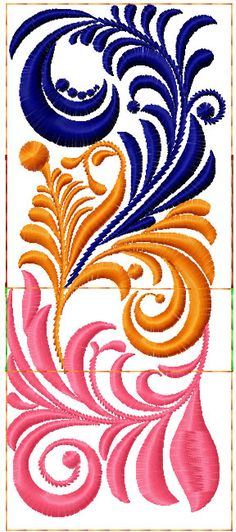 Swirl decoration free embroidery design 2 - Decoration free embroidery designs - Machine embroidery community