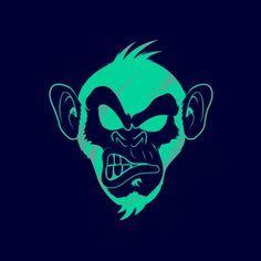 Monkey Drawing, Monkey Art, Logo Animal, Ps Wallpaper, Illustration Art, Illustrations, Wow Art, Skull Art, Art Drawings