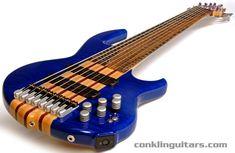 Custom Bass Guitars | Custom 8 String Bass Quilted Maple Macassar Ebony Neck Through Body 2