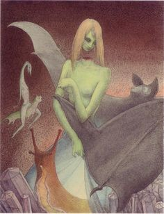 Walter Schnackenberg (1880–1961), The decapitated girl and the bat