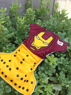 Iron Man Inspired Cloth Diaper by LittleButtDiapers on Etsy, $25.00