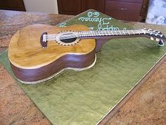 Acoustic Guitar Cake. Learn to play guitar online at www.studio33guitarlessons.com