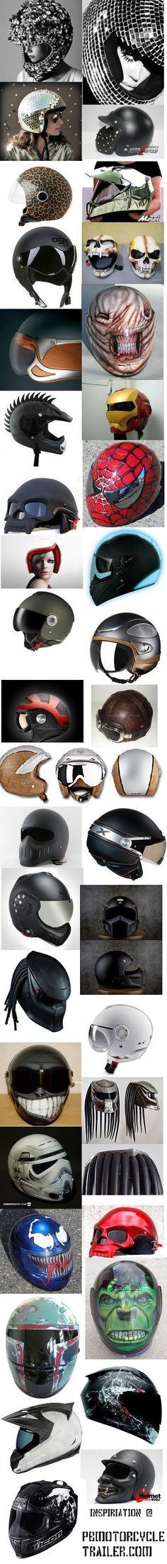Si te gustan los cascos...Customizados.. mira elije uno