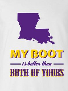 My Boot - and that's where I'm from