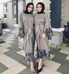 Kebaya Modern Hijab, Modern Hijab Fashion, Muslim Women Fashion, Batik Fashion, Hijab Fashion Inspiration, Abaya Fashion, Fashion Dresses, Dress Brukat, Batik Dress