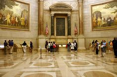 National Archives ~ Get timed ticket online ($1.50 ea), can get in using timed tickets starting at 10:30am, use the Exhibits entrance near the corner of 9th Street and Constitution Avenue, NW.