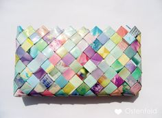 Candy wrapper purse clutch by MadamZikzak on Etsy, $34.00
