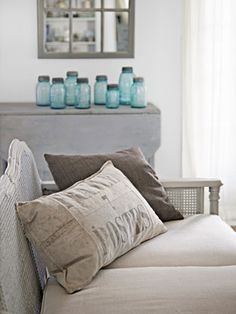 Pillow - Restoration Hardware clearance $25 -DIY Home Decorating in North Carolina - DIY Renovating Ideas - Country Living