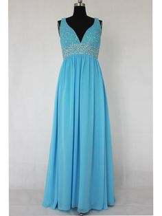 Gorgeous, hand-beaded, chiffon formal dress in sky blue!  Could be great for prom, or black tie occasions!  Empire Sleeveless Beading Chiffon Black Tie Event  Style Code: 01181 / $134  Get it here: http://www.outerinner.com/empire-sleeveless-beading-chiffon-black-tie-event-pd-01181-0.html  #formaldress #prom #promdress #outerinner