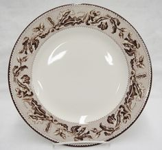 Plymouth Brown Wedgwood for Williams Sonoma Dinner Plate Leaves Acorns Fall New #WilliamsSonoma