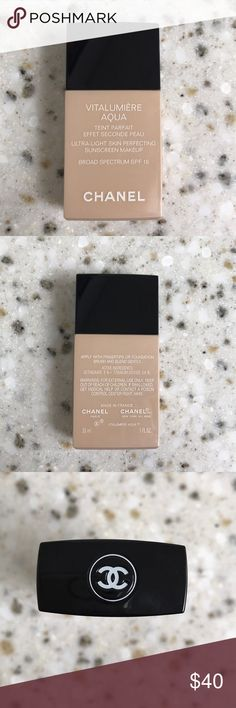 Chanel skin perfecting sunscreen foundation Brand new. No box. Shade is #52 Beige Rosé CHANEL Makeup Foundation