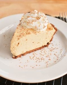 No-Bake Peanut Butter Pie - easy recipe! And so delicious!