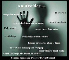 Avoider Sensory Processing Disorder Parent Support, https://www.facebook.com/sensoryprocessingdisorderparentsupport