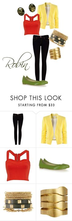 """""""Robin (Damian Wayne)"""" by brownie99 ❤ liked on Polyvore featuring Ted Baker, H&M, River Island, McQ by Alexander McQueen, Stella & Dot, Made, Goldmajor, batman and robin, superheroes and young justice"""