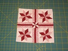 This is the last of the star blocks with Y-seams . First I started off by creating the star blocks. (There are 4 in this one) I used the sa...