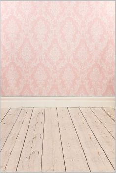 5ft X 7ft Vinyl Photo Backdrop Printed Photography Backgrounds Damask  Wallpaper And Wooden Floor Backdrop Xt