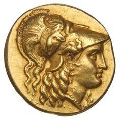 Statere - oro - Babilonia - (311-300 a.C.) - recto: testa di Atena con elmo corinzio a dx - Münzkabinett der Staatlichen Museen Berlin